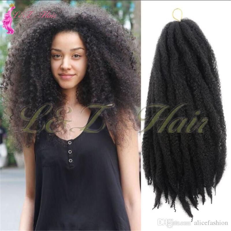 2019 Marley Braids Hair Afro Kinky Synthetic 18crochet Braid Hair