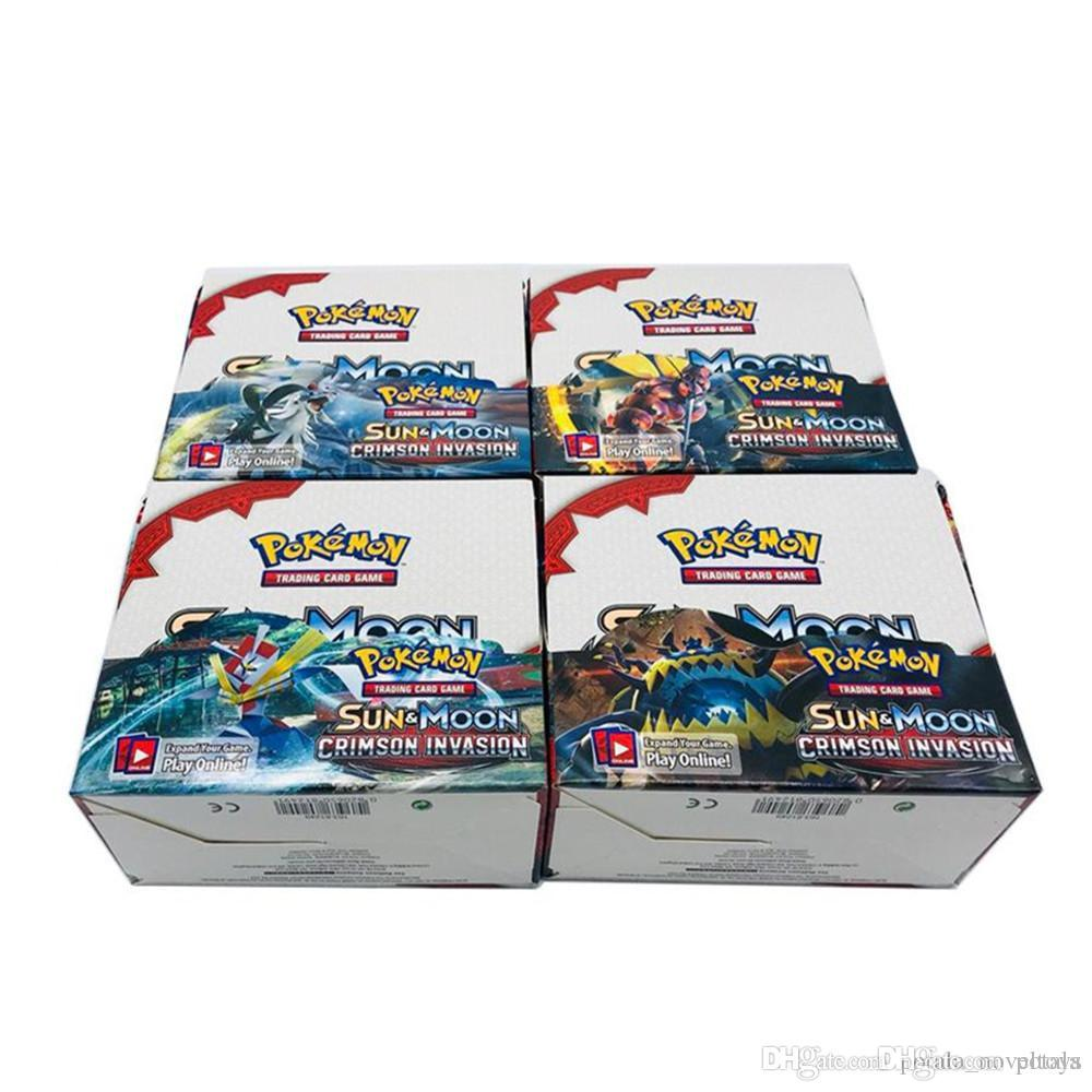 3 Lots Trading Cards Games 324pcs/lot BLACK WHITE ULTRA PRISM Sun&Moon Evolutions guess anime cards Go against muggles Pockets Monsters Toys
