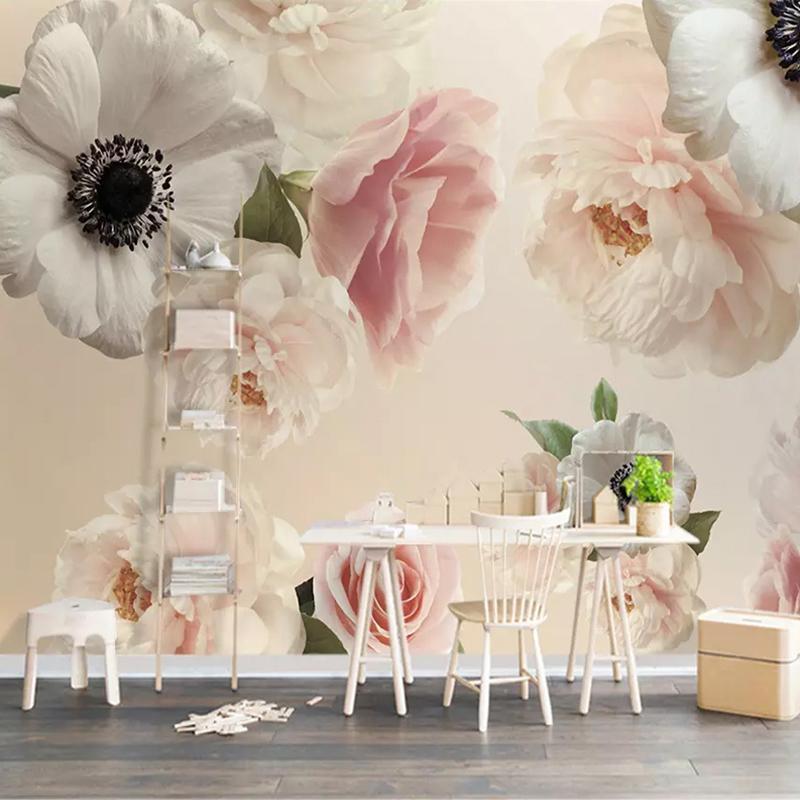 Delicieux Acheter Personnalisé 3D Photo Papier Peint Romantique Belle Floral Fleurs  Mural Chambre Chambre De Mariage TV Toile De Fond Peintures Murales Papier  Peint ...