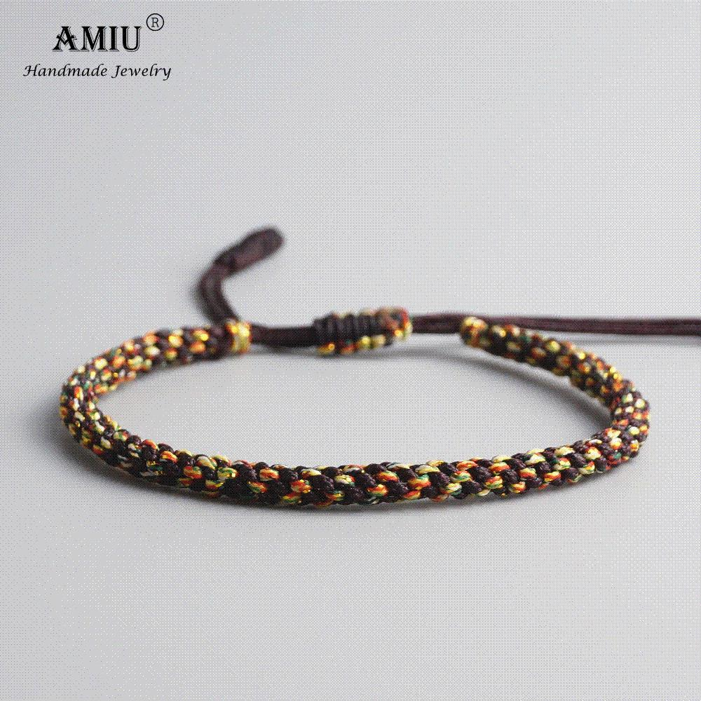 3448eb5f0961b AMIU Tibetan Buddhist Lucky Charm Tibetan Bracelets   Bangles For Men  Handmade Knots Nylon Thread Red Rope Bracelet Wholesale Red Rope Bracelet  Rope ...