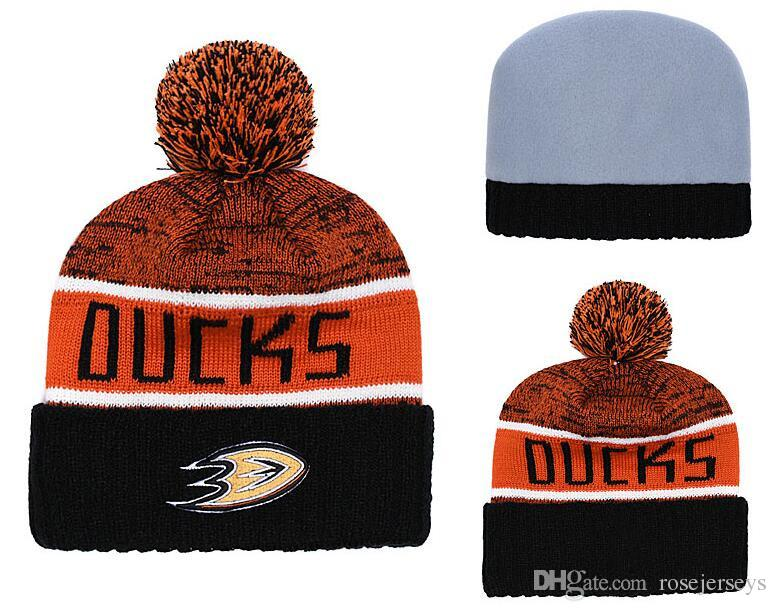 new concept 3f5b7 39574 2019 Anaheim Ducks Ice Hockey Knit Beanies Embroidery Adjustable Hat  Embroidered Snapback Caps Black Orange White Stitched Hats One Size From  Rosejerseys, ...