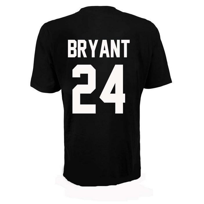 best service 7ef1b 5cd5d Kobe Bryant 24 Men s T-Shirt, High Quality Cotton Round Collar Short Sleeve  Black White S M L XL