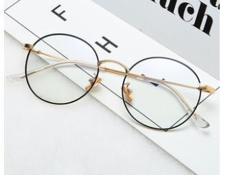370d1c141d 2019 0253S Fashion Vintage Retro Metal Frame Clear Lens Glasses Nerd Geek  Eyewear Eyeglasses Oversized Round Circle Eye Glasses From Taihangshan