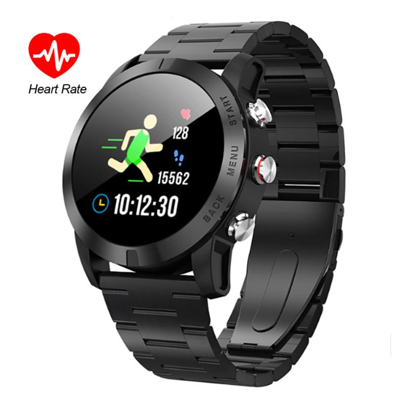 Smart Watch Men IP68 Impermeabile Orologio frequenza cardiaca Monitor LCD a colori Fitness Tracker Smartwatch per IOS Android Huawei Phone