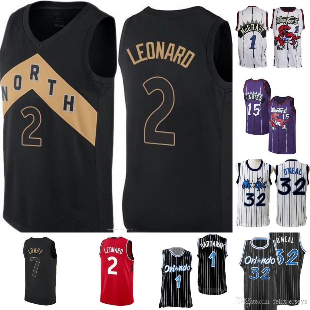 wholesale dealer 05b50 5cc0d Toronto 2 Kawhi 2 Leonard Jersey Raptors Vince 15 Carter Tracy McGrady  Penny 1 Anfernee Hardaway Orlando 32 Shaquille