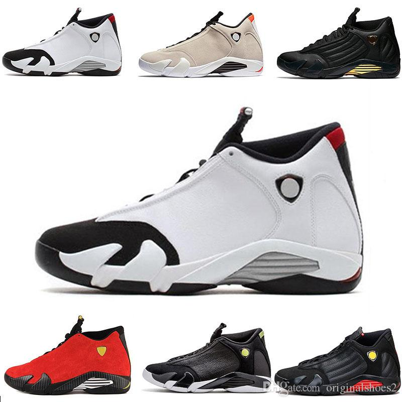 separation shoes ea9ba 9447e Classic 2019 Mens 14s Basketball Shoes Black White Gray Red Suede Men  Outdoor Utility Sports Shoes Designer Trainers Sneakers size 7-13