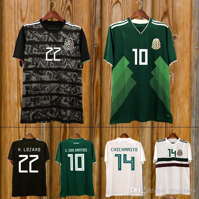 71e3e8e65 2019 2019 Mexico GOLD CUP Black KIT Soccer Jerseys 2018 World Cup Home Away  CHICHARITO Camisetas De Futbol H.LOZANO G.DOS SANTOS Shirt From Myjersey