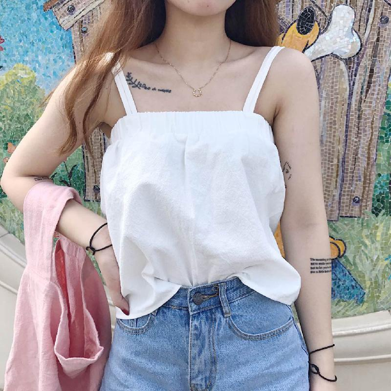 a87dac0887 2019 2019 Summer Strapless Woman Crop Top Korean Style Sexy Short Haut  Femme White Cropped Feminino Streetwear Tank Top Women From Waistband18, ...
