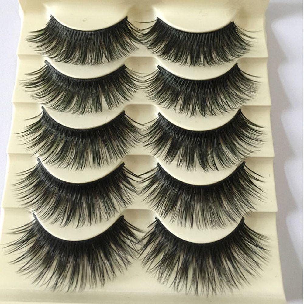 68d95267205 Natural Black Long Fake Eye Lashes Handmade Thick False Eyelashes Black  Makeup Cosmetic Beauty Extension Tools D19011701 Mascara Semi Permanent  Secret ...