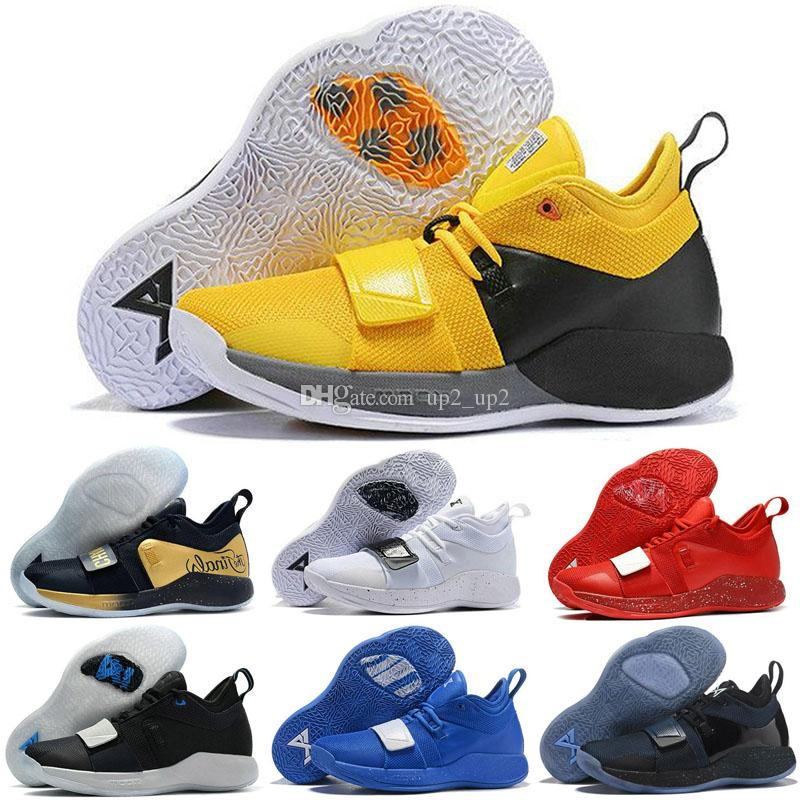the latest 89c56 a7100 2019 New Arrive Actual Combat Version PG 2.5 PlayStation Taurus Road Master  Basketball Shoes Paul George PG2.5 PS Sport Sneakers Size 40-46