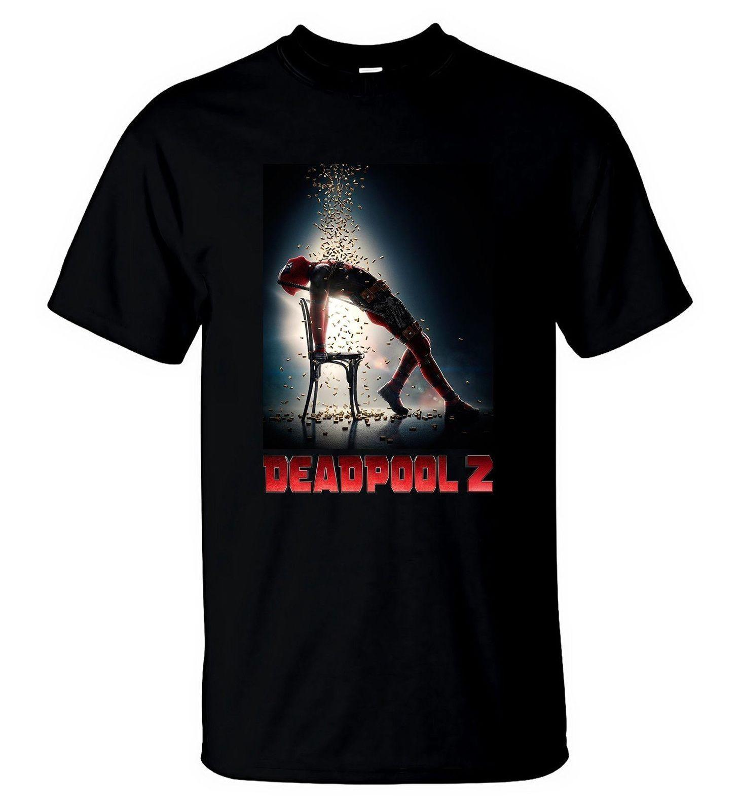 Deadpool 2 T-Shirt New Marvel Movie 2018 T-Shirt Herren Schwarz M L 234XL F056 Cooles lässiges Stolz-T-Shirt