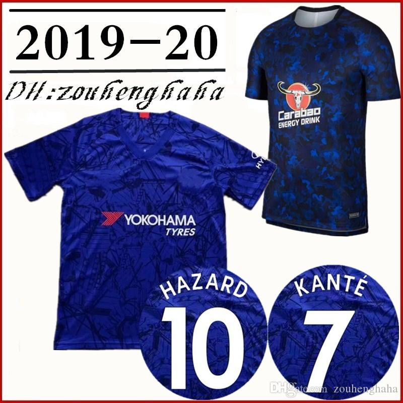 detailed pictures cb741 331c8 KANTE #7 soccer jersey 2019 20 HAZARD #10 Squad Training Shirt JORGINHO #5  MORATA WILLIAN #22 GIROUD #18 PEDRO HIGUAIN #9 football shirt