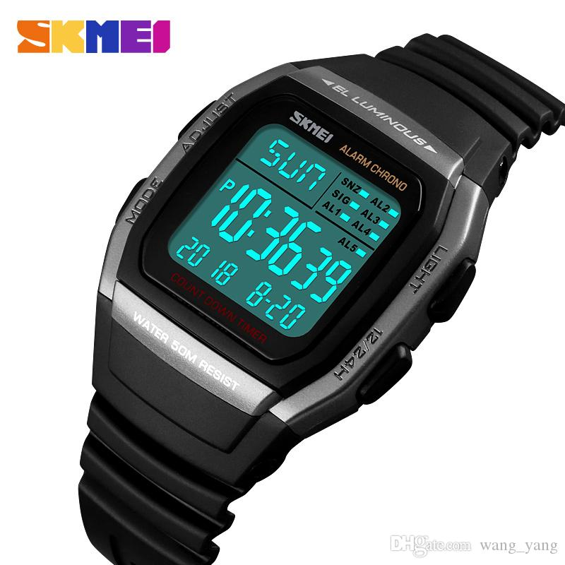 3358b71d5824 Sports Watch Men Military Waterproof Wrist Watches LED Digital Watches Male  Clocks Men S Watch Herren Uhren Reloj Hombre Montre Homme Latest Watches  Trendy ...