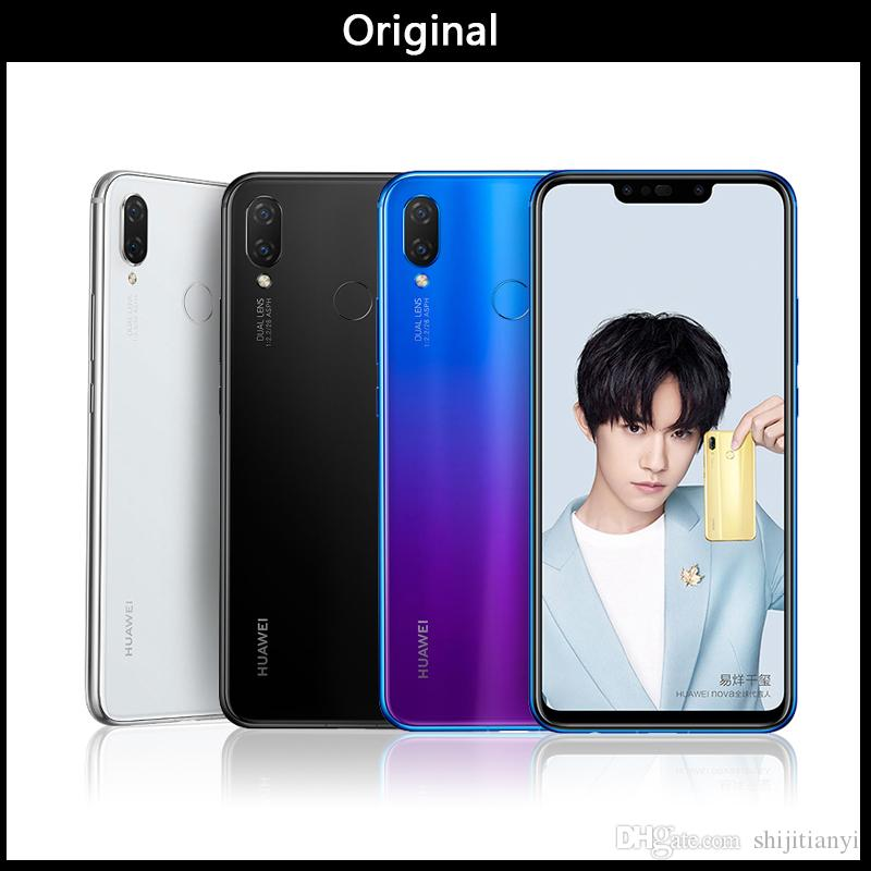 Wholesale Huawei nova 3i nova3i Mobile Phone 4G/6G Ram 64G/128G ROM 6 3  inch Kirin710 Octa Core Android 8 1 Glass Phone Body Smartphone