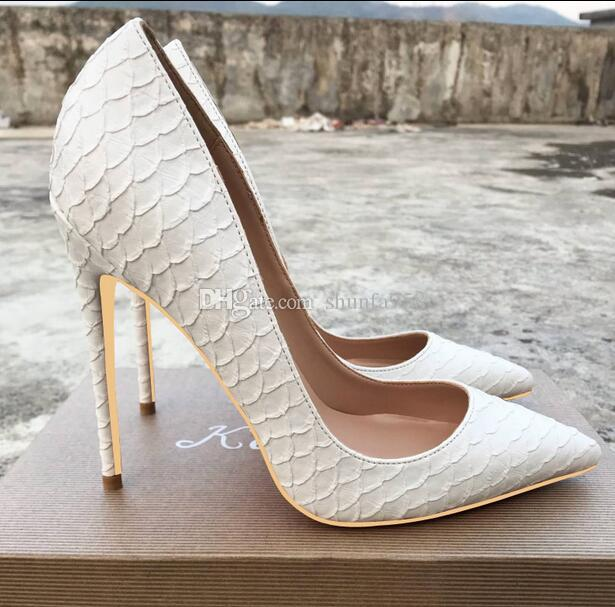 en soldes 4c330 5b077 Nouveau 12 cm Blanc Sneaker Chaussures À Talons Hauts Femmes De Luxe Rouge  Robe De Chaussure De Chaussure Escarpins Mince Talon Pointy Parti Rouge ...