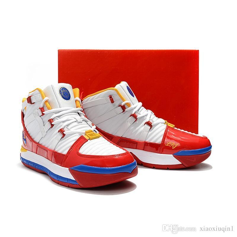 51d0769e27 Compre Vender Como Hot Cakes Hombres Lebron 3 Zapatos De Baloncesto ...