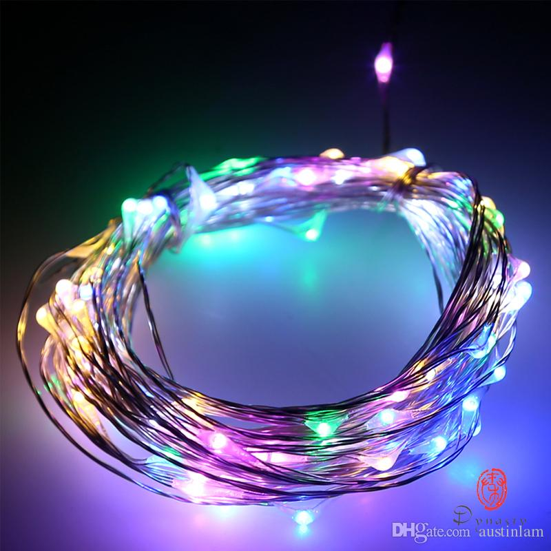 Christmas Holiday Festival LED String 10M 100LED Strip Outdoor Waterproof Party Decoration Atmosphere Fairy Lights DC Adaptor Free Shipping
