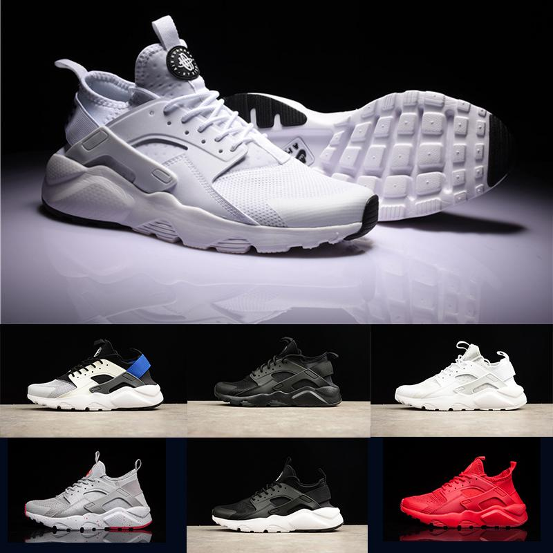 Men Women Huarache IV 4 Running designer Shoes Grey Red Green Triple black white Blue Classicl Trainers Sport Athletics Sneakers
