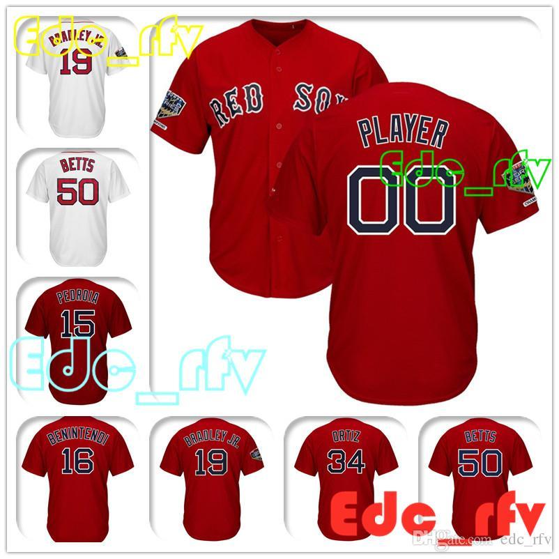 2019 Boston Red Sox Majestic Red Cool Base Custom Baseball Jersey 32 Matt  Barnes 2 Xander Bogaerts 19 Jackie Bradley Jr 70 Ryan Brasier Jersey From  Edc rfv 006414e16a2