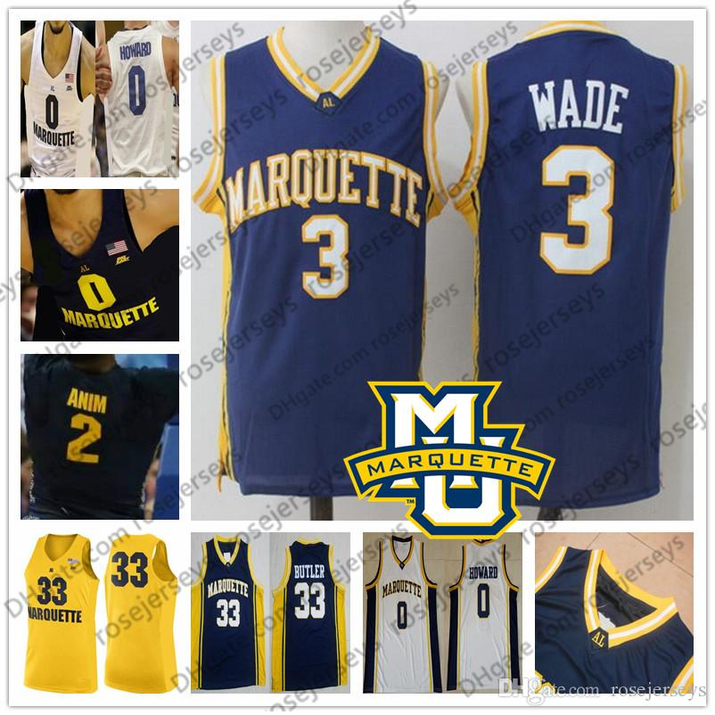 the best attitude 57541 32605 NCAA Marquette Golden Eagles #3 Dwyane 33 Butler Wade Jimmy 32 Jae Crowder  30 Ed Morrow College Basketball Blue White Retro Jersey S-4XL