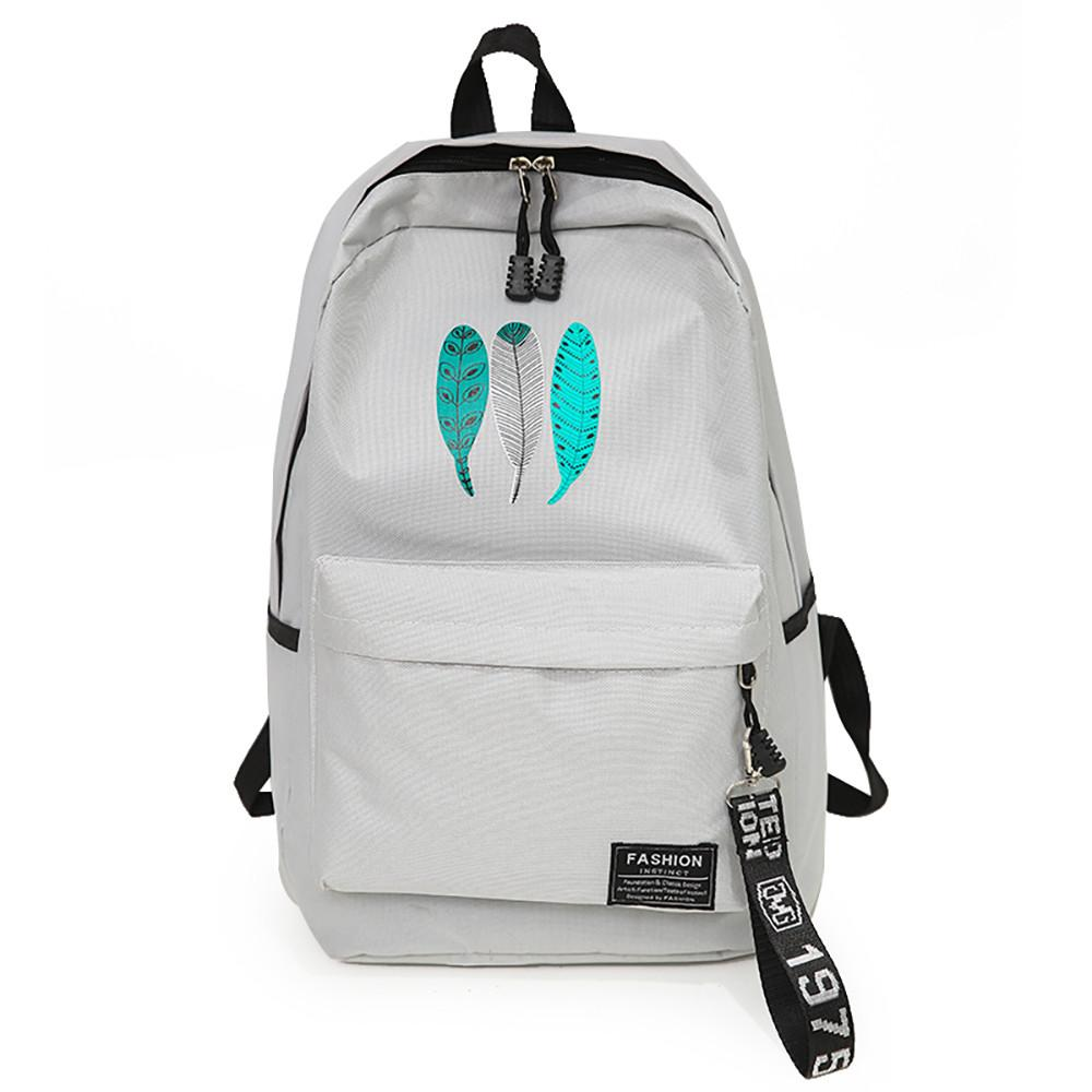 15725ccb618b Women Backpack Feather Print Travel Backpack School Bag Rucksack Student Backpacks  Backpacks Cheap Backpacks Women Backpack Feather Print Travel Online with  ...