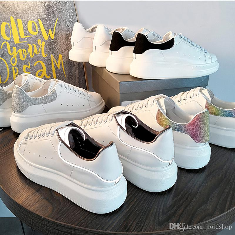 c35f98d1ce2c4 With Box 2019 Luxury Designer 3M Reflective Men Casual Shoes Triple White  Black Mens Womens Fashion Sneakers Party Runner Sneakers 35 44 Most  Comfortable ...