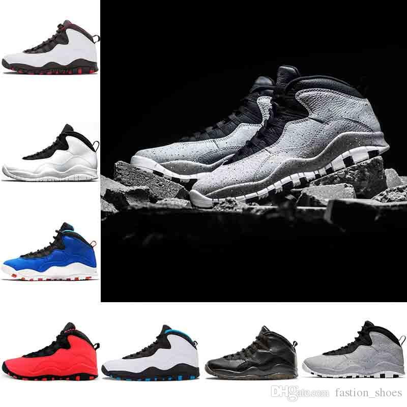 c0e48cb5408a 2019 Men Basketball Shoes 10 10s Cement Westbrook X I M Back Bobcats  Chicago Cool Grey Powder Blue Steel Grey Black White Sport Sneakers 40 47  From ...