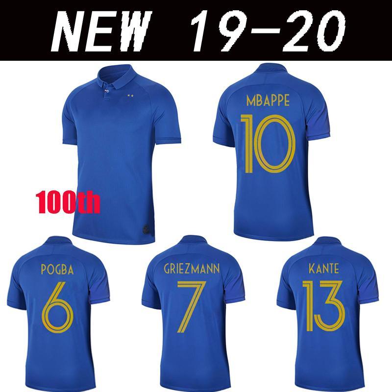 cheap for discount 29fe4 13d01 Mbappe 100th JERSEY POGBA France FFF 100th blue jerseys centenary jersey  2019 Centenaire Maillot 2019 football jersey
