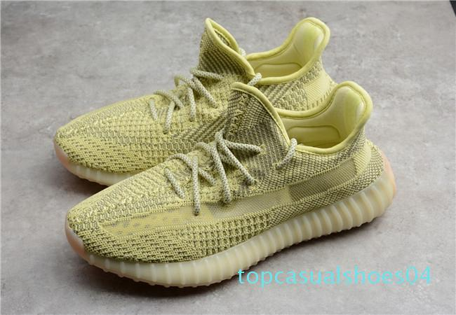 hot 2019 Antlia synth estáticos kanye sapatos reflexivas argila V2 zebra manteiga Antlia mens Lundmark mulheres oeste Casual Shoes at04