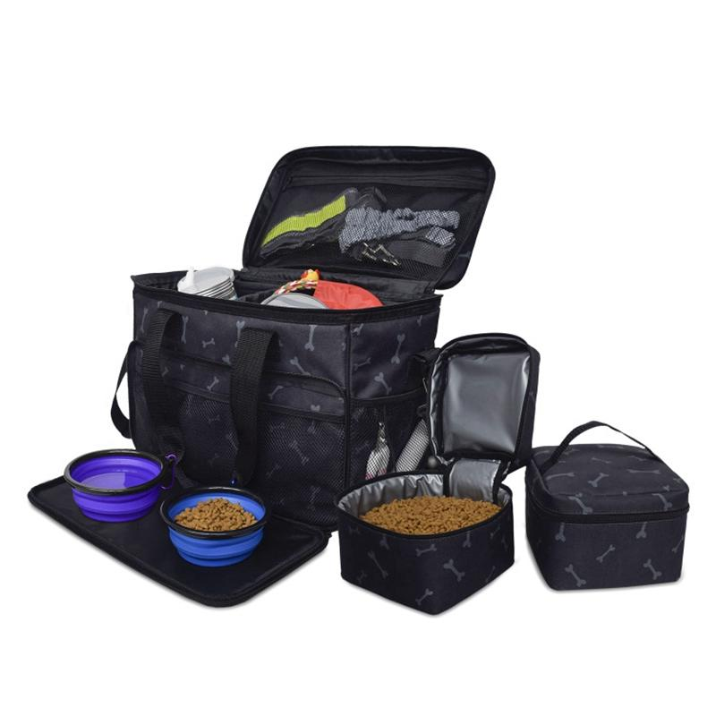 Top Dog Travel Bag Airline Approved Travel Set for Dogs of All Sizes Stores All Your Dog Accessories Includes Bag