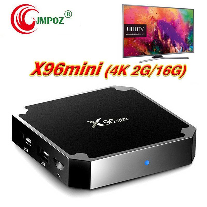 X96 Mini Android 7 1 Amlogic S905W STB tv box 1GB 8GB 2GB 16GB eMMC Flash  player 17 6 4K Smart Android TV Box Better tx3 MXQ Pro 4K