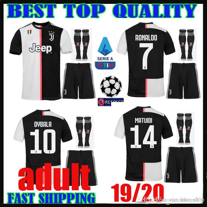 229dae94a 2019 Adult Kit 19 20 Juventus Soccer Jerseys 7 Ronaldo 10 DYBALA 2019 2020  Home 17 MANDZUKIC 19 Bonucci MATUIDI Football Shirts MEN Sets Thailand From  ...