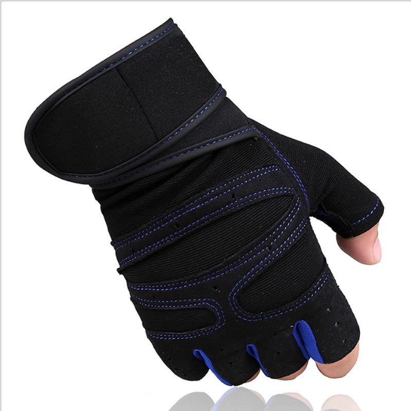 1bd79558660f49 Großhandel Radfahren Handschuhe Half Finger Fitness Gewichtheben Handschuhe  Anti Rutsch Übung Übung Schwergewicht Sport Bodybuilding Gym Handschuhe Von  ...