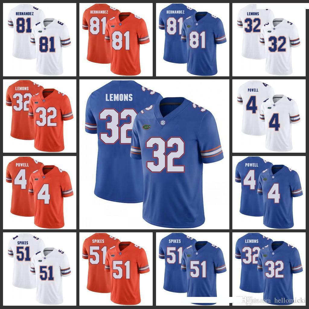 Florida Gators College Jerseys Mens 4 Brandon Powell 14 Chris Williamson 9 Dre Massey 7 Duke Dawson NCAA College Football Jersey