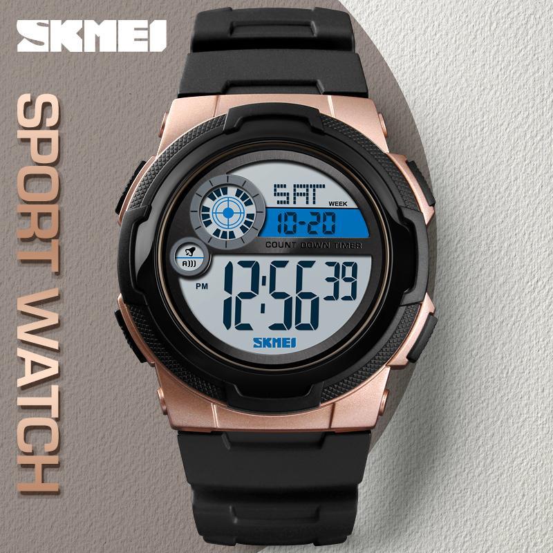 nuovo di zecca 4628d 4ae28 Orologi sportivi SKMEI Orologi da uomo elettronici Orologio da polso  maschile di lusso con orologio da polso digitale di marca reloj hombre