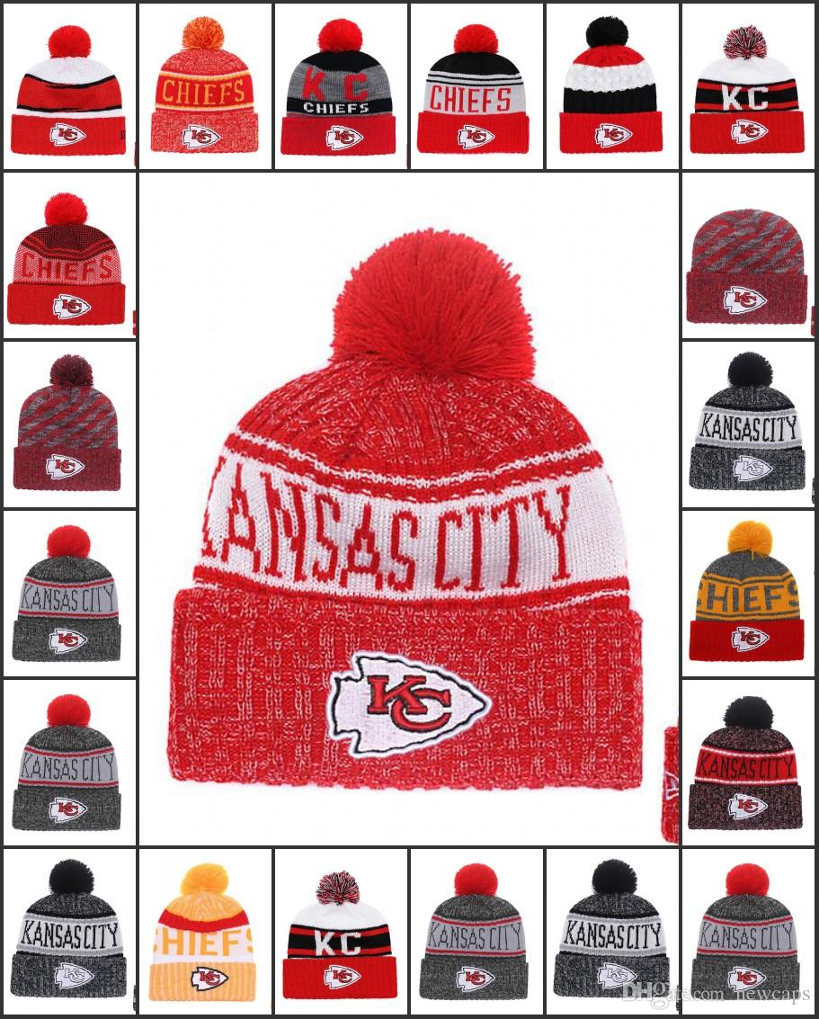 Wholesale Kansas City Sport Winter Hats Chiefs Stitched Team Logo Brand Warm  Men Women Hot Sale Knitted Caps Cheap Mixed Beanies Zephyr Hats Kids Hats  From ... bf4e39d0a9c3