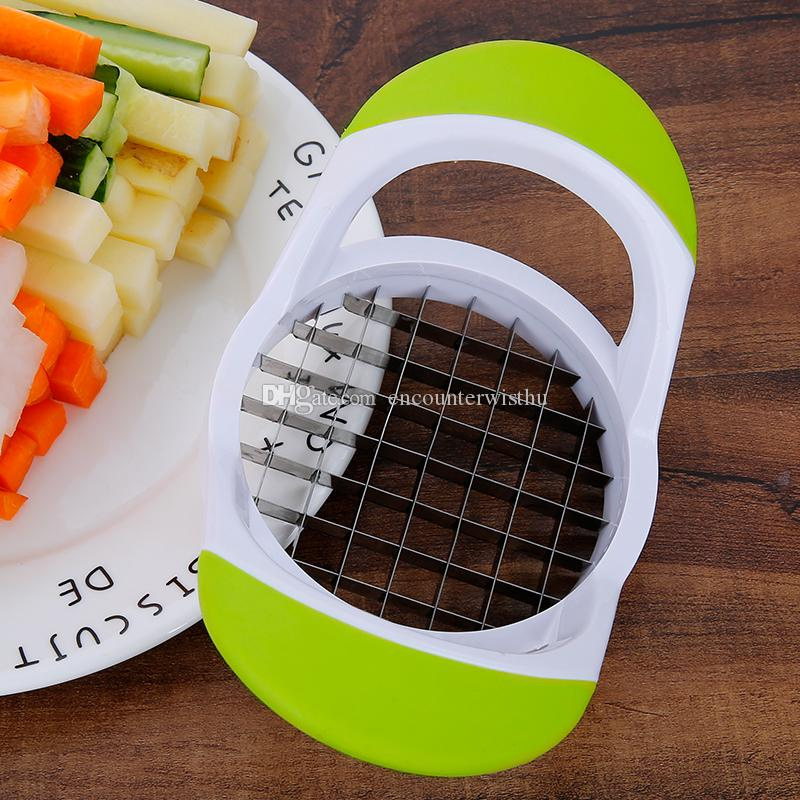 Cutting potato chips, potato cutter, potato cutter for household use. Cucumber, radish, knife and chips cutter