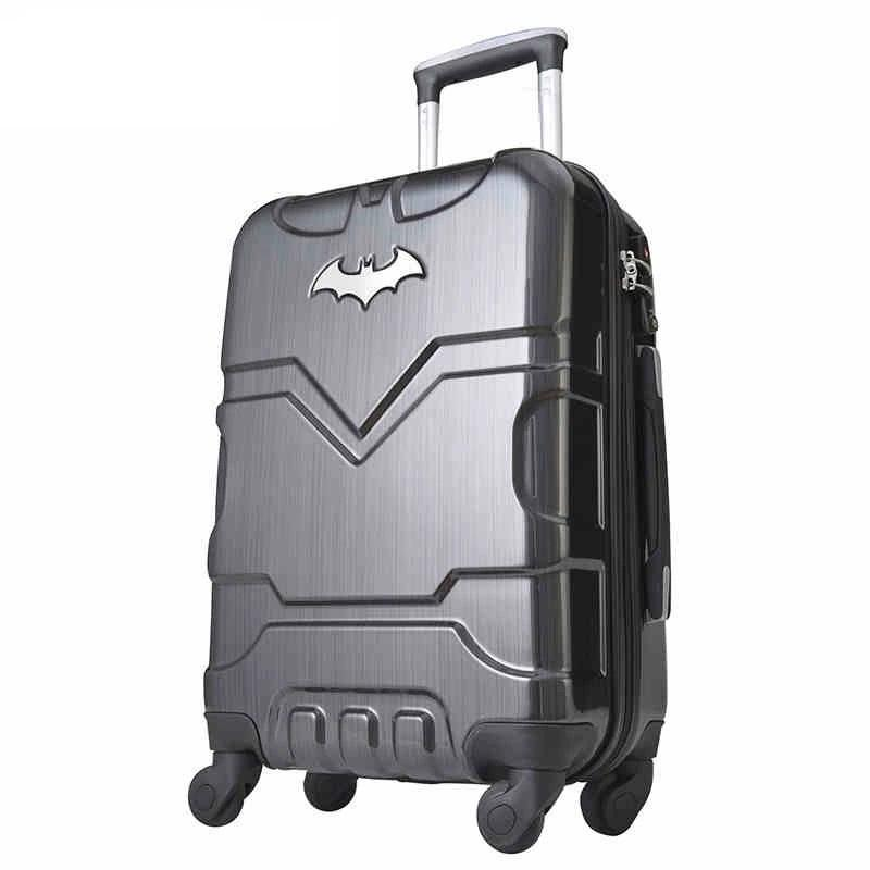 "20""24"" inch PC Rolling Luggage boarding password hardside luggage travel trolley suitcase for hero fans"