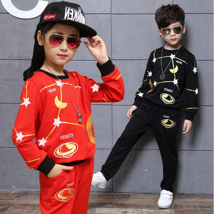 f1885411cacc8 Children Clothing Kids Cute Suit Boy Top Pants 2pcs Star Pattern Boys  Spring Autumn Clothes Suit 5s/lot