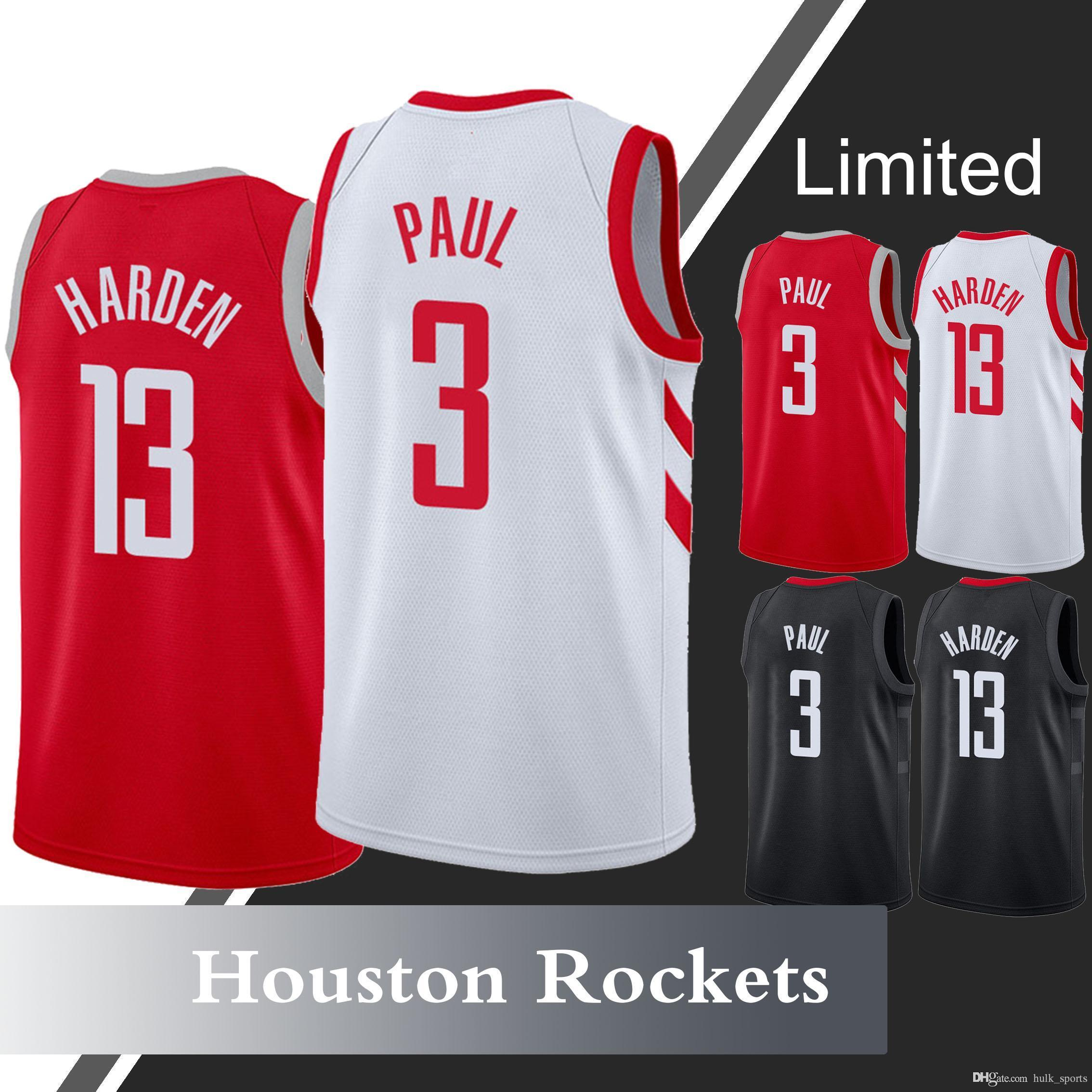 quality design 2c98a b4906 James 13 Harden jersey Houston jerseys Rockets Chris 3 Paul Carmelo 7  Anthony Basketball Jerseys
