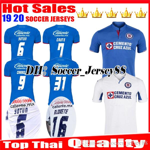 59b452335a8 2019 New 2019 2020 Mexico Club Liga MX CDSC Cruz Azul Soccer Jersey 19 20  Home Blue Away White Jerseys Football Shirt Camisetas De Futbol From ...