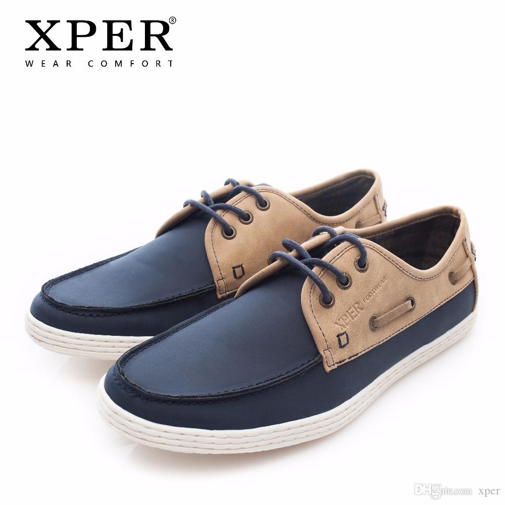 9eb3ae2e7 Compre 2018 XPER Marca De Moda Homens Sapatos Casuais De Couro Desgaste  Masculino Sapatos De Caminhada Confortáveis Homens Primavera Outono Calçado  Macio ...