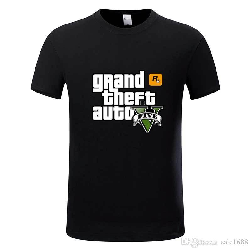 Compre Juego Gta 5 Camisetas De Algodon Grand Theft Auto Camiseta