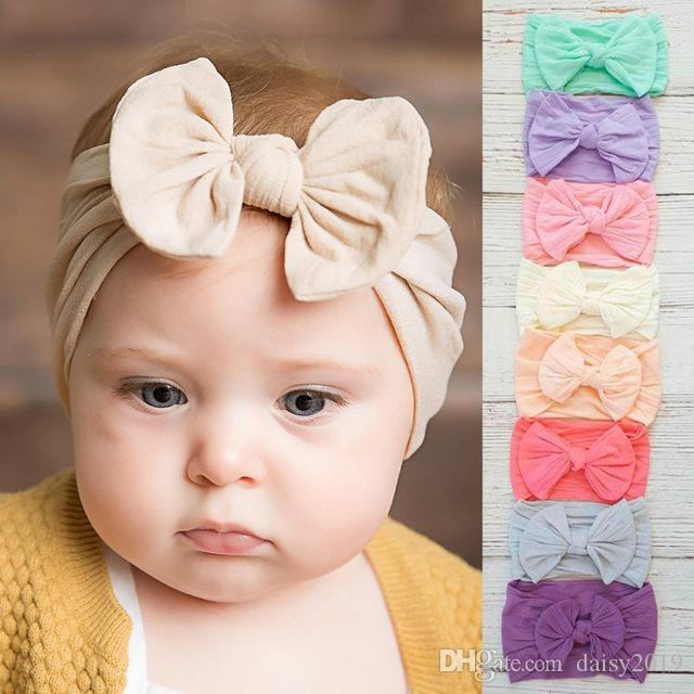 Clothing, Shoes & Accessories Sincere Baby Headband Toddler Cute Girl Kid Bow Hairband Knot Rabbit Turban Headwear New Moderate Price