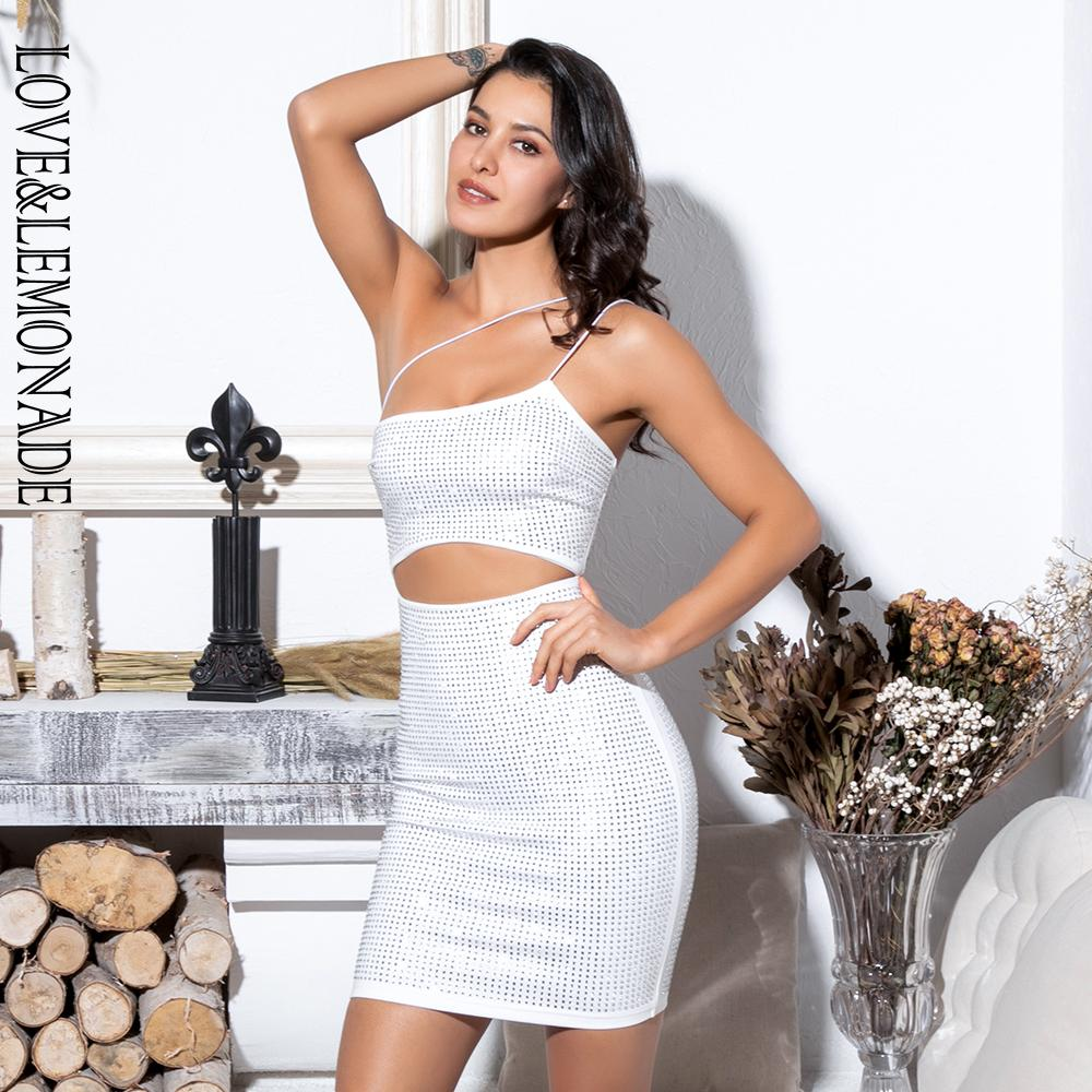 a30f4a3e91d Love Lemonade Sexy White Cut Out Strapless Glue Diamond Decoration Bodycon  Party Dress LM81583 Lulu Party Dresses 4 Evening Dresses From Beimu