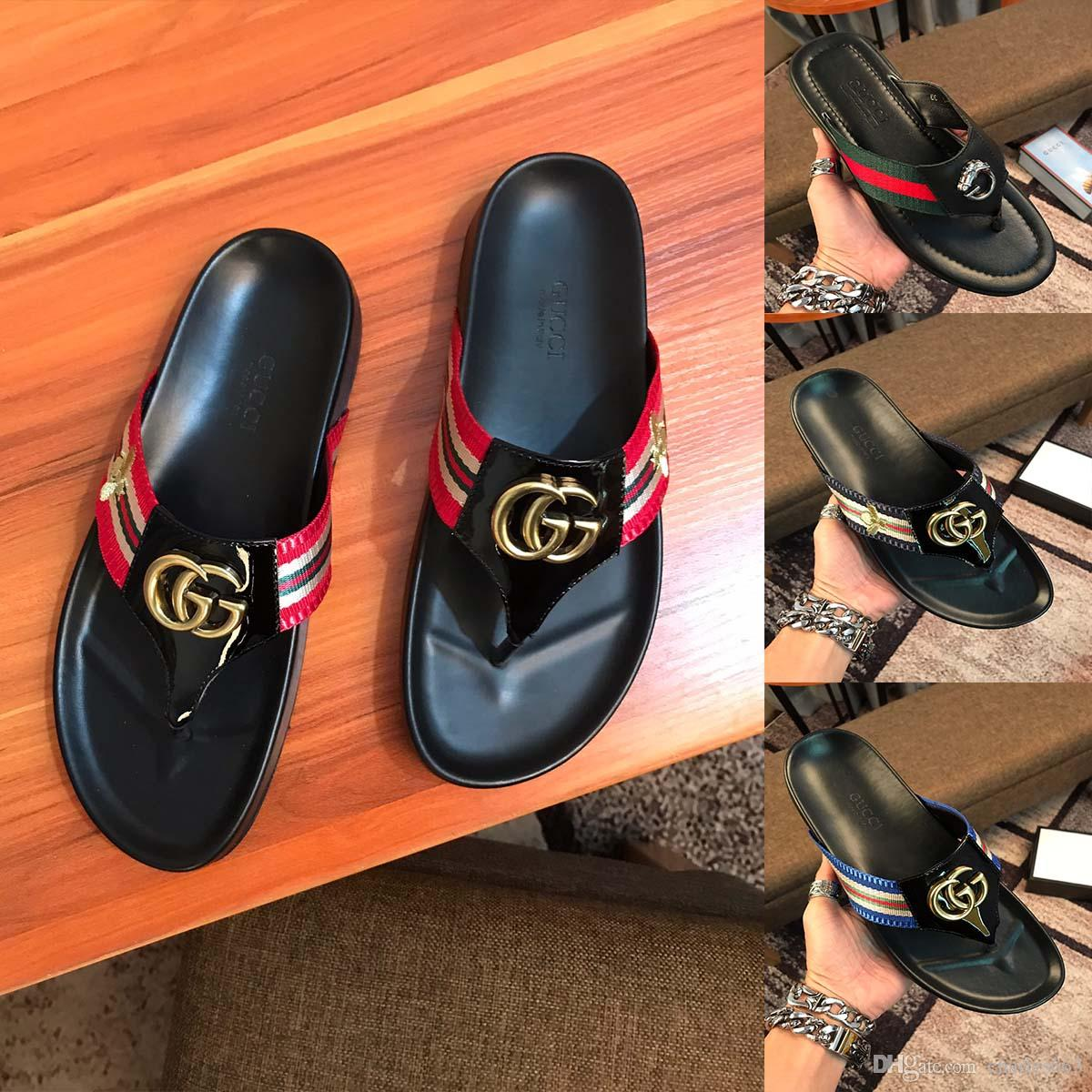 3ad7b0a064b5 Comfort Sandals Summer Men Beach Flip Flops Shoes Sandals Open Toe Slipper  Indoor Outdoor Flip Flops 38 45 Male Shoes Mens Shoes Combat Boots From ...