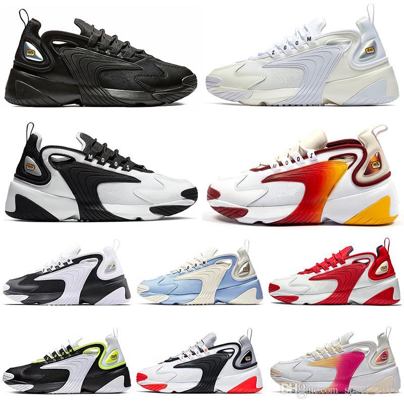 2k Mujeres Zoom 2019 Tekno De Hombres Diseñador Nike Negro Para Zapatillas Casual Deportivas Running 2000 Lujo Blanco M2k uK3TJcFl1