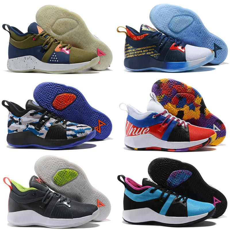 online store 17dc7 d5791 2019 New Paul George 2 PG II Basketball Shoes top PG2 2S Starry Blue Sports  Running Shoes Training Sneakers