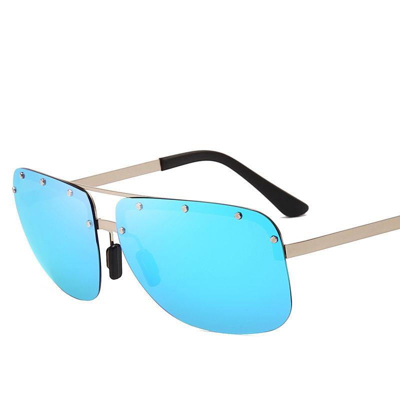 12f39dea5595 Sunglasses for Men New Mode Sun Glasses Polarized 2019 Frameless ...