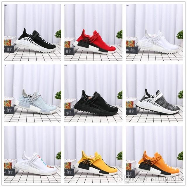 ec9f8d27a587c Human Race 2019 Hu Trail Pharrell Williams Casual Shoes Nerd Black ...